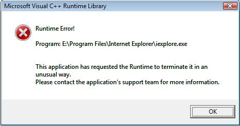fix runtime error in Internet Explorer