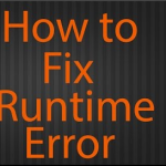 how to fix runtime error