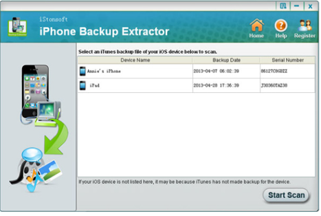 Extract backup from iPhone backup location