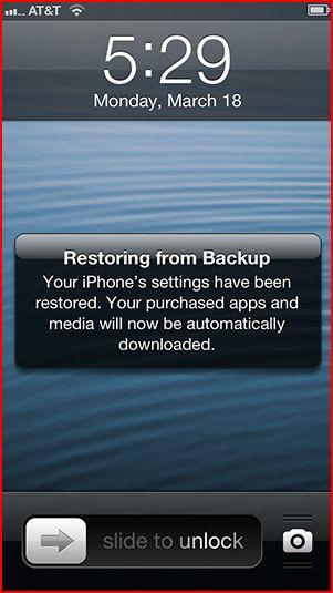 restoring from backup