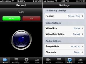 record iPhone screen