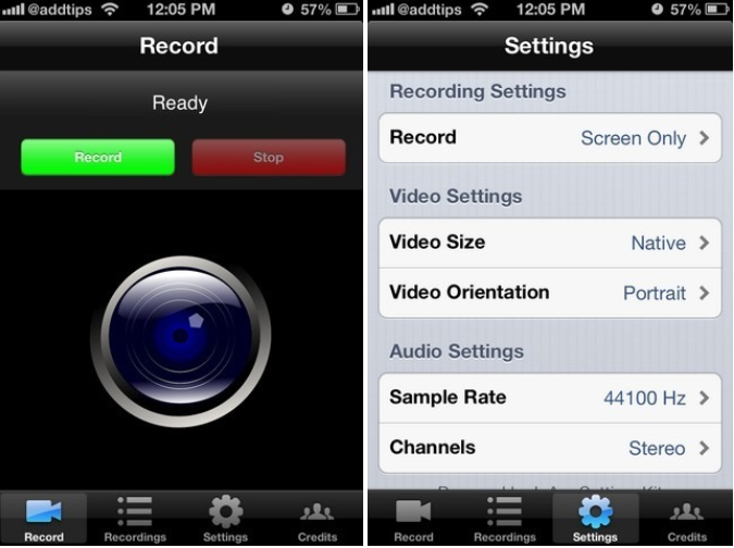 how to turn record your iphone screen