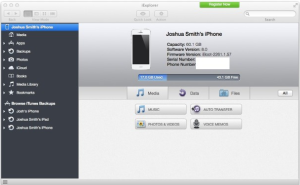 how to transfer music from iPhone to iTunes Step 4