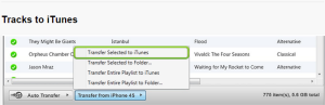 how to transfer music from iPhone to iTunes step7
