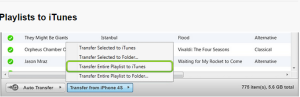 how to transfer music from iPhone to iTunes Step8