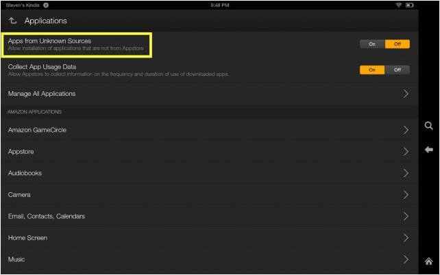 download YouTube app for kindle fire from unknown sources