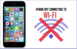 iPhone won't connect to WiFi