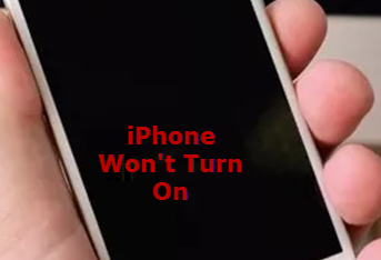 how to turn on iphone that won t turn on