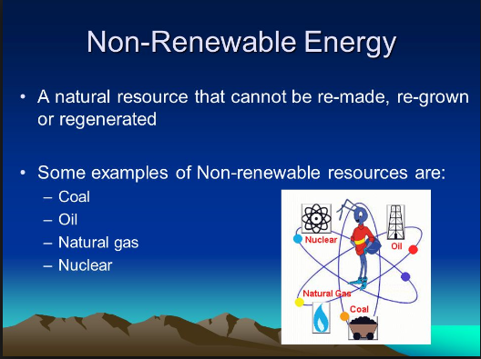 10 examples of non renewable resources