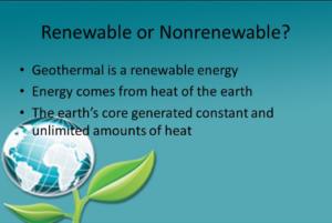 is geothermal renewable or nonrenewable