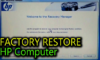 how to reset hp laptop to factory settings